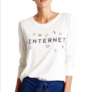 NWT Wildfox Internet princess tee sz S